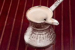 Turkisk kaffekruka Arkivbild