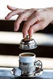 Turkisk kaffestil Arkivbild