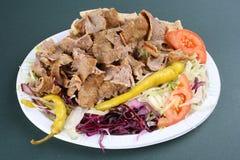 Turkisk kebab. Fast food image Turkish kebab Stock Image