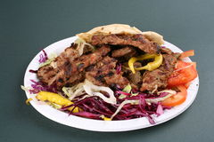 Turkisk kebab royalty free stock photos