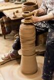 Turkisk keramiker i Cappadocia Royaltyfri Foto