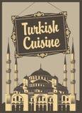 Turkisk kokkonst royaltyfri illustrationer