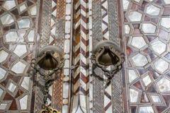 Turkisk konst för ottoman med geometriska modeller arkivfoto