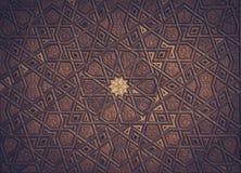 Turkisk konst f?r ottoman med geometriska modeller royaltyfri bild