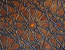 Turkisk konst f?r ottoman med geometriska modeller royaltyfri foto