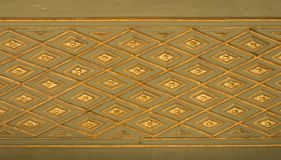 Turkisk konst f?r ottoman med geometriska modeller arkivfoto