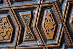 Turkisk konst f?r ottoman med geometriska modeller royaltyfri fotografi