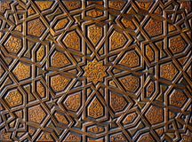 Turkisk konst f?r ottoman med geometriska modeller arkivfoton