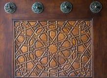 Turkisk konst f?r ottoman med geometriska modeller royaltyfria bilder