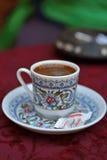 Turkisk kopp av coffe Royaltyfri Bild