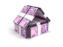 Turkisk Lira för Real Estate begrepp stock illustrationer