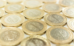 Turkisk Lira - järnpengar 1 TL Arkivbilder