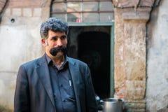 Turkisk man med mustaschen Fotografering för Bildbyråer
