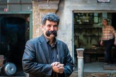 Turkisk man med mustaschen Royaltyfria Bilder