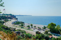 Turkisk medelhavs- kust Arkivfoto
