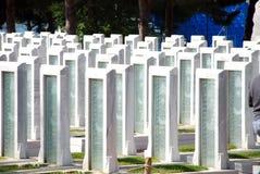 Turkisk militär kyrkogård Arkivfoto