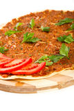 Turkisk pizza Royaltyfri Fotografi
