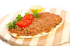 Turkisk pizza Arkivfoto