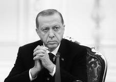 Turkisk president Recep Tayyip Erdogan arkivbild