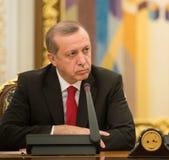 Turkisk president Recep Tayyip Erdogan Arkivbilder