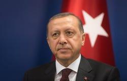 Turkisk president Recep Tayyip Erdogan Royaltyfria Foton