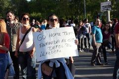 Turkisk protest i Ankara Arkivbild