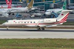Turkisk regering för TC-DAP, Gulfstream G550 Arkivbilder