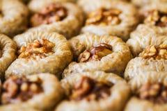 Turkisk söt baklava Arkivfoton
