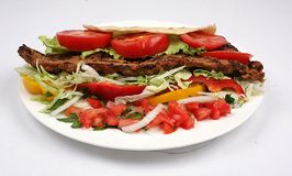 Turkisk shish kebab Stock Photos