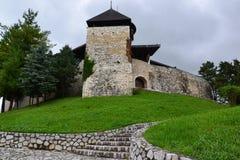 Turkisk slott i Bosnien Arkivbilder