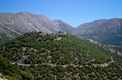 Turkisk slott på överkanten av berget Royaltyfri Bild
