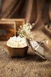Turkisk sockeruppsättning med lokum Royaltyfri Fotografi