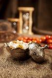Turkisk sockeruppsättning med lokum Royaltyfria Bilder
