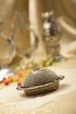 Turkisk sockeruppsättning med lokum Royaltyfria Foton