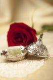 Turkisk sockeruppsättning med lokum Royaltyfri Foto