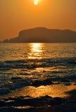 Turkisk solnedgång Fotografering för Bildbyråer