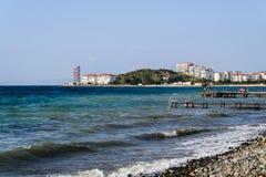 Turkisk stad för sommarsemester Arkivbilder