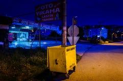Turkisk stad på natten Arkivfoto