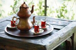 Turkisk tea Fotografering för Bildbyråer