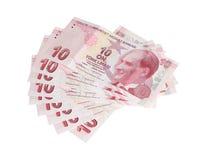 Turkisk valuta Arkivbilder