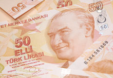 Turkisk valuta Royaltyfri Bild