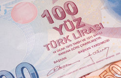 Turkisk valuta Arkivbild