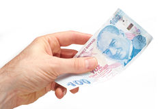 Turkisk valuta Royaltyfri Foto