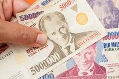 Turkisk valuta Royaltyfria Bilder