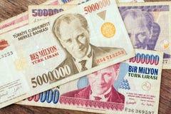 Turkisk valuta Arkivfoton