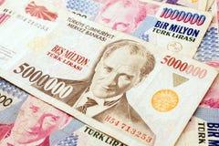 Turkisk valuta Arkivfoto