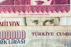 Turkisk valuta Royaltyfri Fotografi