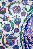 Turkiska blåa tegelplattor royaltyfri bild