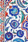 Turkiska blåa tegelplattor fotografering för bildbyråer