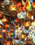 Turkiska flerfärgade lampor Royaltyfri Foto